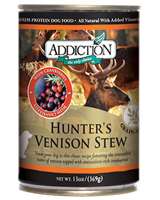 Addiction Hunter's Venison Stew Dog Canned