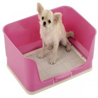 Richell Enclosed Toilet Tray, pink
