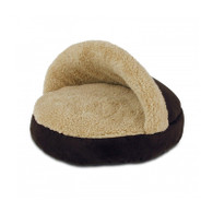 All For Paws Snuggle Bed for cats (Brown)