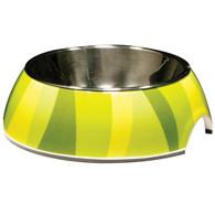 Catit Style 2-in-1 Cat Dish, Green Zebra