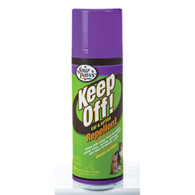 Four Paws® Keep Off!® Repellent is the perfect aid for training cats and kittens to stay off furniture, draperies, counters, table tops, household plants, outdoor shrubbery and more. Repels cats for up to 24 hours when applied daily. Effective indoors and outdoors. 6 oz. Aerosol