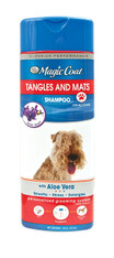 Magic Coat® Tangles and Mats Shampoo is specially formulated with vitamin rich aloe vera providing deep moisturizing effects that strengthen and detangle the dog's coat. It soften's the coat leaving it manageable and easy to brush or comb. 16 oz. (473ml)