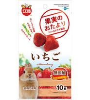 Marukan Freeze Dried Strawberry For Small Animals 10g