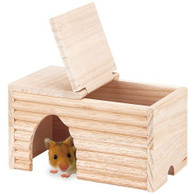 Marukan Natural Wood House for Golden Hamster