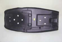 Metal seat pan and black powder coated paint