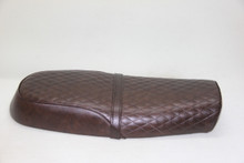 28.5 inches dark brown seat
