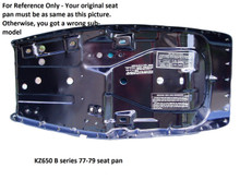 For Your Reference : Your seat pan should be as same as this picture. Otherwise, you maybe have a different model of KZ650