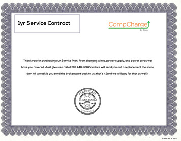 1yr Service COntract