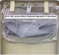 6570-398 Jacuzzi Mesh Skimmer Bag with 11 Clip Holes