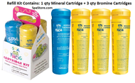FROG Serene® In-Line System formerly Spa Frog Mineral Sanitizer Refill Kit- 1 Mineral & 3 Bromine Cartridges