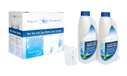 Aquafinesse 2 Liter x 2 qty Hot Tub Spa Water Care Granular Chlorine Kit Aqua Finesse