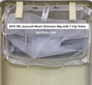 "6570-392 Jacuzzi® Mesh Filter Skimmer Bag 20""x16"" with 7 Clip Holes"