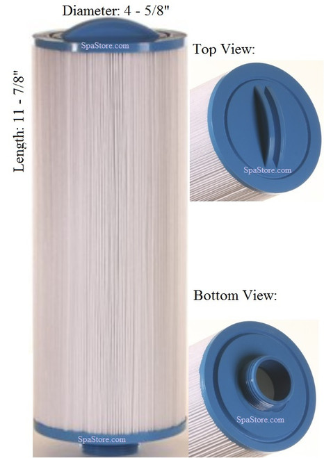 """Dimension One Spas (D1) Filter: AK-9005, OEM: 6540-484,1561-14,74407-98, Pleatco: PTL25-P4 , Unicel: 4CH-30 , Filbur: FC-0141, Diameter: 4-5/8"""", Length: 11-7/8"""""""