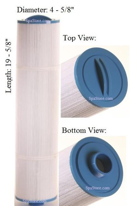 """Dimension One Spas (D1) Filter: AK-9008, OEM: 1561-06,1561-07, Pleatco: PTL65H-P4 , Unicel: 4CH-65 , Filbur: FC-0171, Diameter: 4-5/8"""", Length: 19-5/8"""""""