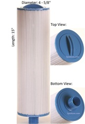 "Dimension One Spas (D1) Filter: AK-9009, OEM: 1561-13, Pleatco: PDO-UF40P2 , Unicel: 4CH-940 , Filbur: FC-0177, Diameter: 4-5/8"", Length: 15"""