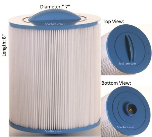 Spa Filter Baleen: AK-9020, OEM: 100432 or 3301-1018, Pleatco: PCS32P4, Unicel: 7CH-32, Filbur: FC-0425