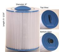 "Master Spas, Down East Spas, Ft. Wayne Spas Filter : AK-9030, Diameter: 8"", Length: 9-1/14"""