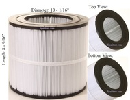"Dimension One Spas (D1) Filter: AK-8001, OEM: 59054000, R173213,1561-26, Pleatco: PAP50-4 , Unicel: C-9405 , Filbur: FC-0684, Diameter: 10-1/16"", Length: 8-9/16"""
