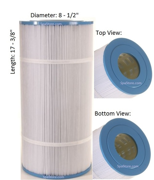 "Cal Spas Filter: AK-7009, OEM: CX800RE, Pleatco: PA80-4 , Unicel: C-8600 , Filbur: FC-1280, Diameter: 8-1/2"", Length: 17-3/8"" - FREE Shipping with $79 Order"