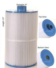 "Coleman Spas, Maax Spa Filter Baleen: AK-7008, OEM: 100594, 3301-2262, Pleatco: PCS75N , Unicel: C-8475 , Filbur: FC-3320, Diameter: 8"", Length: 13"""