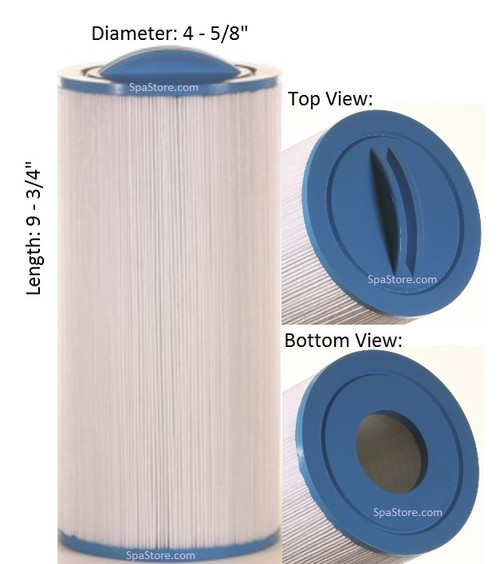 """Master Spas Filter: AK-3009, OEM: N/A, Pleatco: PGS25 , Unicel: C-4324 , Filbur: FC-0187, Diameter: 4-5/8"""", Length: 9-3/4"""" - FREE Shipping with $79 Order"""