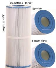 """Dimension One Spas (D1) Filter: AK-3017, OEM: 1561-03, Pleatco: PMT40 , Unicel: C-4340 , Filbur: FC-3081, Diameter: 4-15/16"""", Length: 11-5/8"""""""