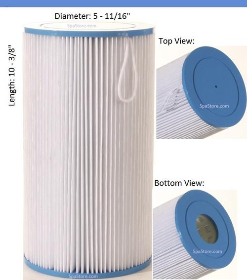 "Jacuzzi Spa Filter 2540-380 Filter Baleen: AK-4021, OEM: 43-2954-01-R, Pleatco: PJW23 , Unicel: C-5601 , Filbur: FC-1330, Diameter: 5-11/16"", Length: 10-3/8"""