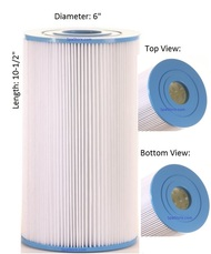 "HotSpring® Spa Filters 31489, 71825, Diameter: 6"", Length: 10-1/2"""