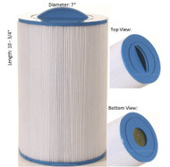 "Caldera Spas Filter: OEM: 73532, 1019401, Pleatco: PCD50N , Unicel: C-7350 , Filbur: FC-3963, Diameter: 7"", Length: 10-3/4"""