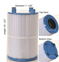 "Dimension One Spas (D1) Filter: AK-60035, OEM: 1561-00, Pleatco: PDO75-2000 , Unicel: C-7367 , Filbur: FC-3059, Diameter: 7-1/8"", Length: 10-1/2"""
