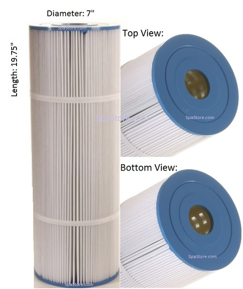 "6472-605 Sundance® Spas Filter 1985 Silverado Diameter: 7"", Length: 19-3/4"", 2"" Inner Hole"