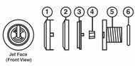 2000-2007 Sundance® Jacuzzi® Pulsator Wrist Palm Jet Kit 6540-336,6540-350,6540-330,6540-309,6660-002