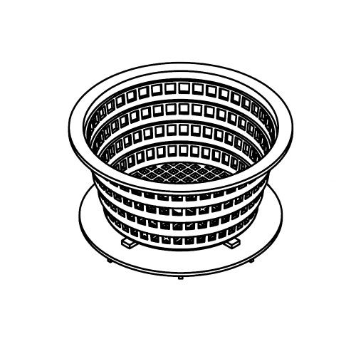 6000-736, Basket: Filter for Denali canister - Gray