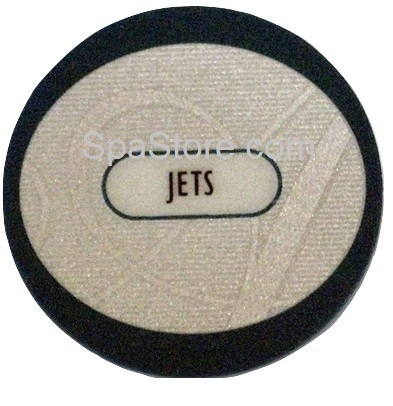 OP11-1302-08 Artesian® Platinum Elite Spas Overlay, Jets, 1-Button, formerly 11-0048-77