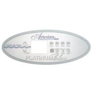 OP11-0105-77 - Artesian® Spas Overlay, Platinum - 5 Pump OBSOLETE See Below