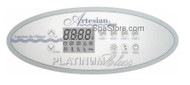 OP33-0400-40 Artesian® Platinum Spas Control Panel, K-4, 5 Pump 10 Buttons