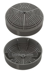 "Sundance® & Jacuzzi® 4-7/8"" OD Suction Drain Grate Cover 6540-564 Plastic Gray Single Center Screw VGB Compliant"