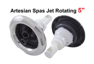 "5"" Artesian Island South Seas Spa Typhoon 03-1414-52 Jet Insert Double Rotating Stainless"
