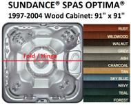 SPA COVER SUNDANCE® SPAS OPTIMA® 1997-2004 Wood Cabinet