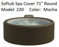 """Softub Cover for Model 220 Round 71"""" Mocha, Folding Cover with 4 Qty Locking Straps, FREE SHIPPING"""