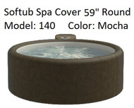 """Softub Cover for Model 140 Round 59"""" Mocha, Folding Cover, Locking Straps, FREE SHIPPING"""