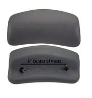 26-0019-85 Artesian Spas, Island Spas, Chevron Lounge Pillow Charcoal Gray Captiva