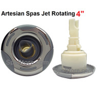 "4"" Inch Artesian Spas, Island Spas, Jet Insert, Helix, ROTATING, Stainless, OP03-1304-52PE"
