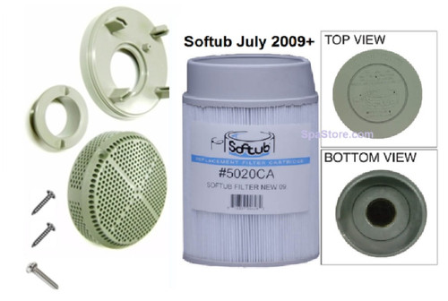 Softub Drain Suction Cover Retrofit Assembly Kit Before