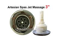 "3"" Artesian Island Spas Jet Insert, 03-1204-52, Helix Massage, Stainless 2007-2012"