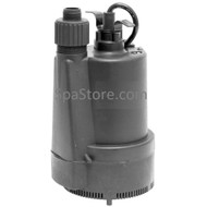 Softub Submersible 1/3 HP Sump Pump Drains in 20 Minutes, 10 ft Cord, Plug and Play