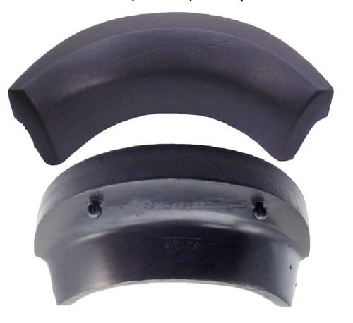 """Strong Spas & Costco Evolution Neck Pillow Headrest Replacement- Curved 11"""" X 3-1/2"""" Black"""