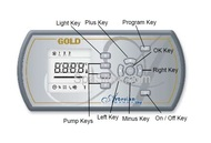 OP33-0473-40 Artesian Spas Topside Panel, Gold Series Lo-Profile 33-0473-40