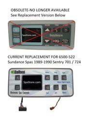 6500-522 Sundance® Spas Control Panel - 701/724, Coleman 300/400/Series