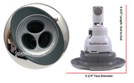 """6541-132 Jacuzzi® Jet Face: PowerPro FX2-S Spinner with Stainless Steel Escutcheon, 5-1/4"""" Diameter"""